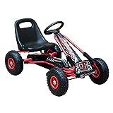 HOMCOM Go Kart Kinderfahrzeug Tretauto mit Pedal Bremsen...